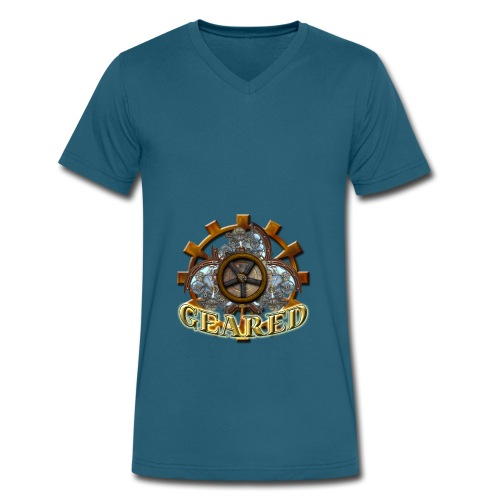 Geared Contrast Hoodie - Men's V-Neck T-Shirt by Canvas
