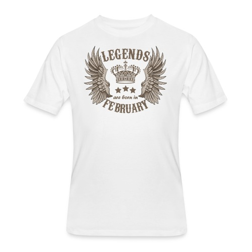 Legends Are Born In February - Men's 50/50 T-Shirt