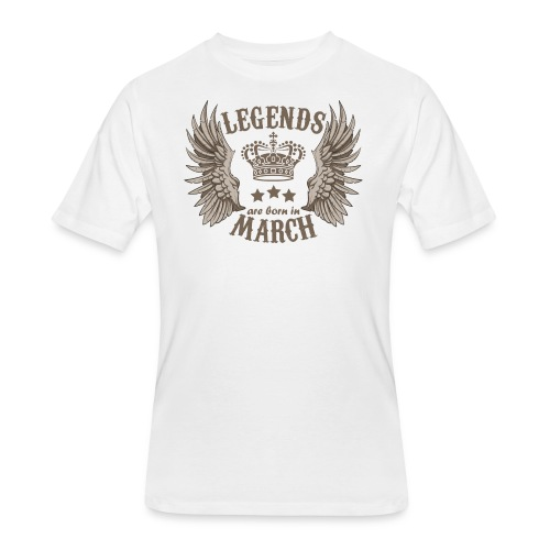 Legends Are Born In March - Men's 50/50 T-Shirt