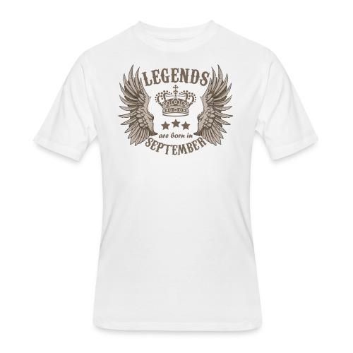 Legends Are Born In September - Men's 50/50 T-Shirt