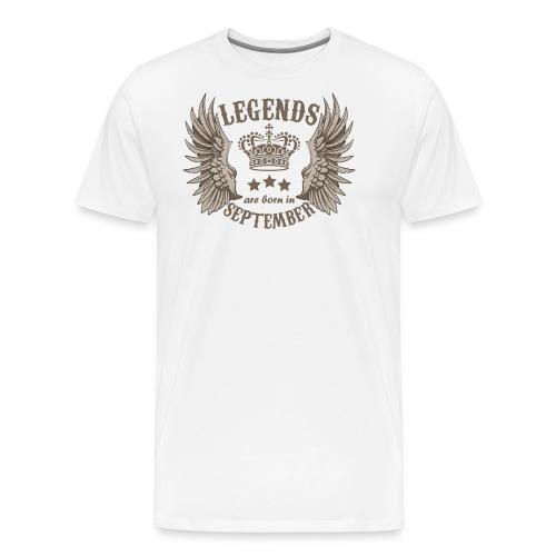 Legends Are Born In September - Men's Premium T-Shirt