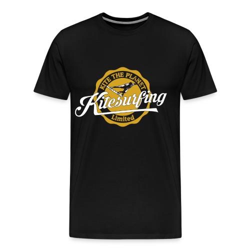 Kite The Planet Vintage Kitesurfing - Men's Premium T-Shirt