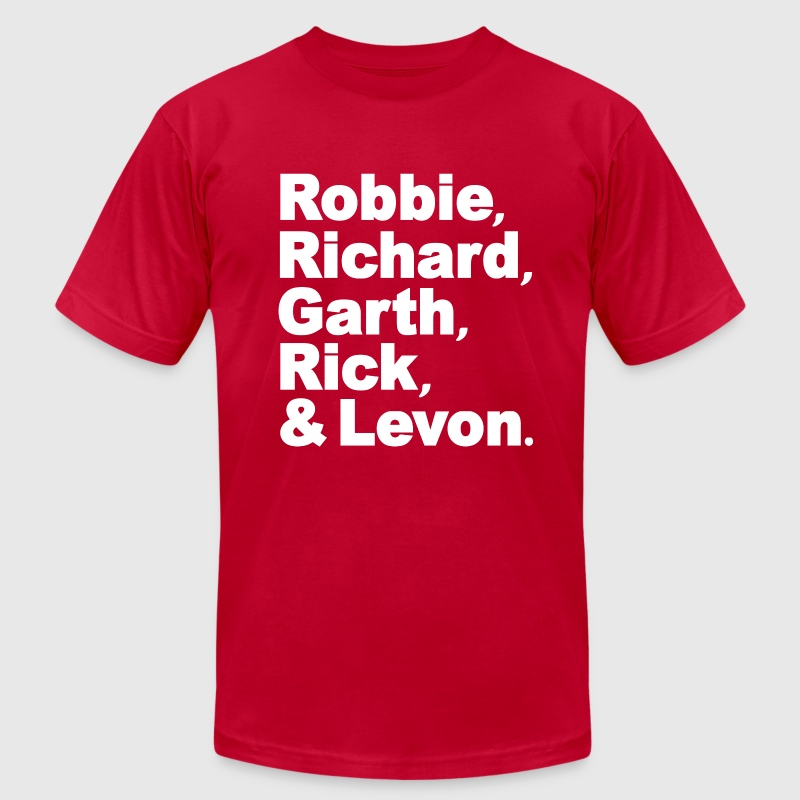 The Band Robbie Richard Garth Rick Levon T-Shirts - Men's T-Shirt by American Apparel