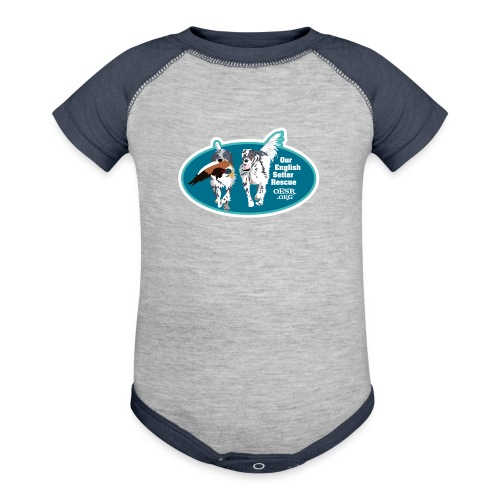 2017 OESR Men's Premium Shirt with 2 Setters Running - Contrast Baby Bodysuit
