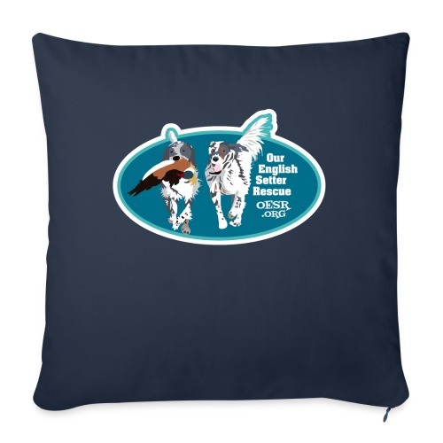 """2017 OESR Men's Premium Shirt with 2 Setters Running - Throw Pillow Cover 18"""" x 18"""""""