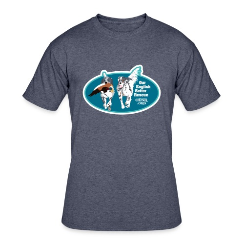 2017 OESR Men's Premium Shirt with 2 Setters Running - Men's 50/50 T-Shirt