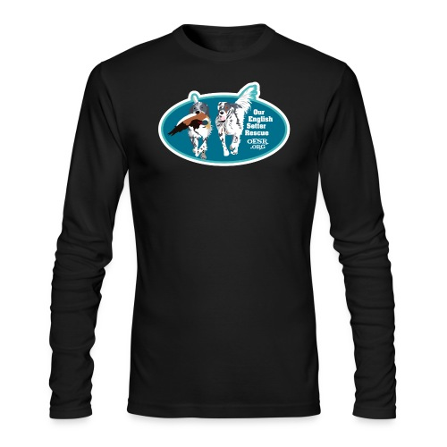 2017 OESR Men's Premium Shirt with 2 Setters Running - Men's Long Sleeve T-Shirt by Next Level