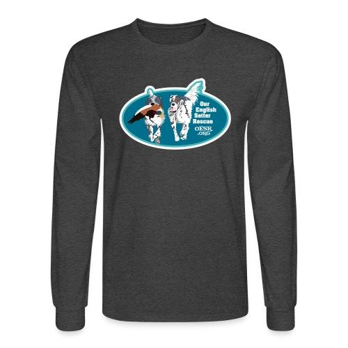 2017 OESR Men's Premium Shirt with 2 Setters Running - Men's Long Sleeve T-Shirt