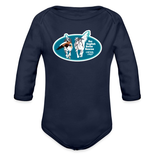 2017 OESR Men's Premium Shirt with 2 Setters Running - Organic Long Sleeve Baby Bodysuit