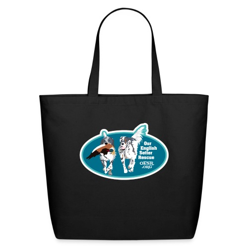 2017 OESR Men's Premium Shirt with 2 Setters Running - Eco-Friendly Cotton Tote