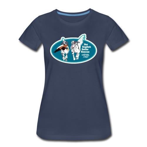 2017 OESR Men's Premium Shirt with 2 Setters Running - Women's Premium T-Shirt