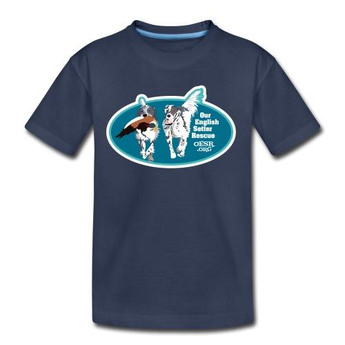 2017 OESR Men's Premium Shirt with 2 Setters Running - Kids' Premium T-Shirt