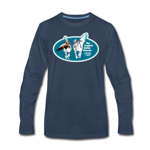 2017 OESR Men's Premium Shirt with 2 Setters Running - Men's Premium Long Sleeve T-Shirt