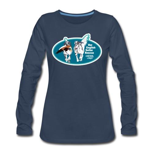 2017 OESR Men's Premium Shirt with 2 Setters Running - Women's Premium Long Sleeve T-Shirt
