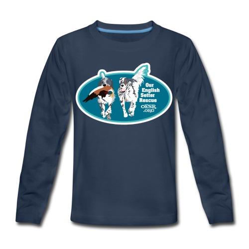 2017 OESR Men's Premium Shirt with 2 Setters Running - Kids' Premium Long Sleeve T-Shirt