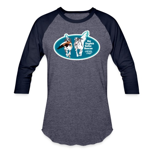 2017 OESR Men's Premium Shirt with 2 Setters Running - Baseball T-Shirt