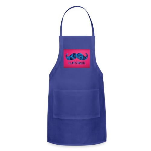Slay Stache Blue Roses  T-Shirts - Adjustable Apron