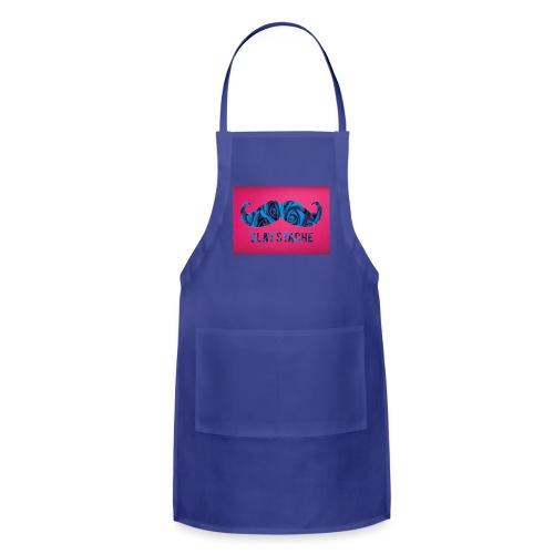 Slay Stache Blue Roses  T-Shirts - Adjustable Apron
