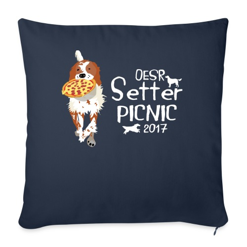 """2017 OESR Women's Premium Shirt for the Setter Picnic in September - Throw Pillow Cover 18"""" x 18"""""""