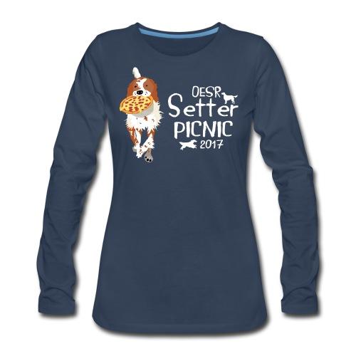 2017 OESR Women's Premium Shirt for the Setter Picnic in September - Women's Premium Long Sleeve T-Shirt