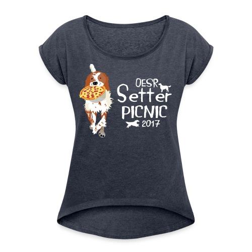 2017 OESR Women's Premium Shirt for the Setter Picnic in September - Women's Roll Cuff T-Shirt