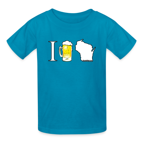 I Beer WI (Digital Print) - Kids' T-Shirt