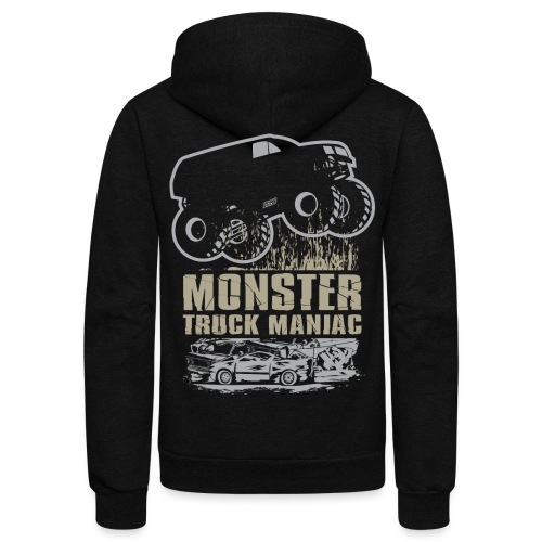 Monster Truck Maniac - Unisex Fleece Zip Hoodie