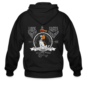 Illegal Beagle - Men's Zip Hoodie