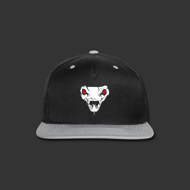 """Unisex Fleece Zip Hoodie """"Cobra Skull"""" (Flexi Print)"""