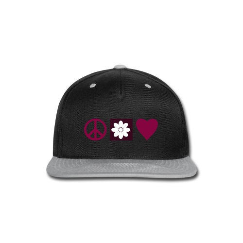 Peace & Love - Snap-back Baseball Cap