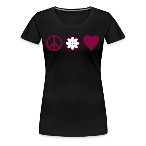 Peace & Love - Women's Premium T-Shirt