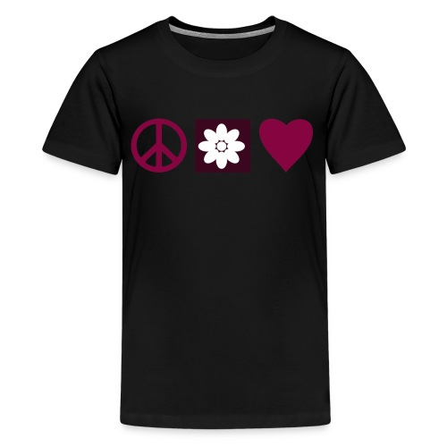 Peace & Love - Kids' Premium T-Shirt