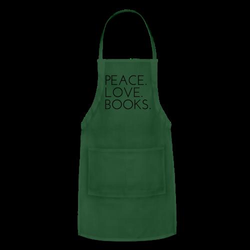 Peace. Love. Books. - Adjustable Apron