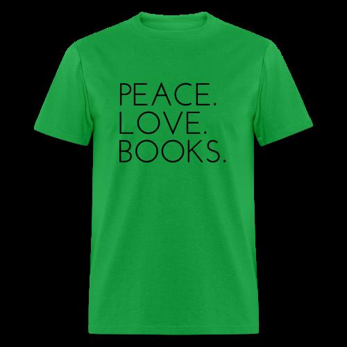 Peace. Love. Books. - Men's T-Shirt