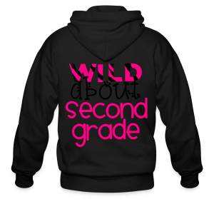 Wild About Second Grade | Teal - Men's Zip Hoodie