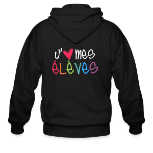 I Love My Students (French) - Men's Zip Hoodie
