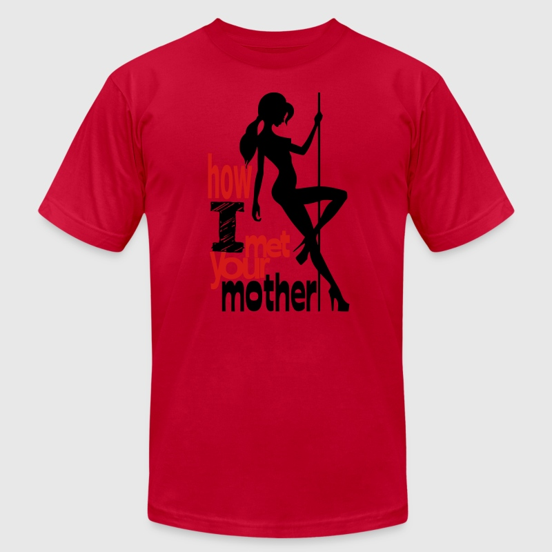 How I Met Ur Mother - american apparell - Men's T-Shirt by American Apparel
