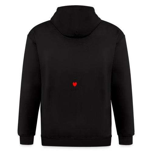 I heart CHAOS - Men's Zip Hoodie