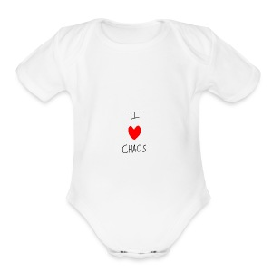 I heart CHAOS - Short Sleeve Baby Bodysuit