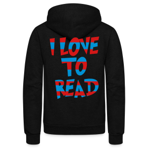I Love To Read - Unisex Fleece Zip Hoodie