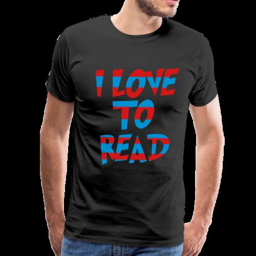 I Love To Read - Men's Premium T-Shirt
