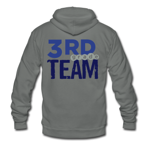 3rd Grade Team - Unisex Fleece Zip Hoodie by American Apparel