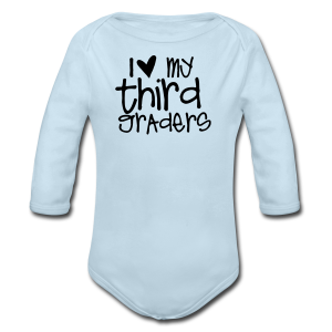 Love My Third Graders | Light Purple - Long Sleeve Baby Bodysuit