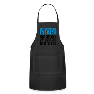 Instructional Coach... Ninja Isn't an Official Job Title | White + Metallic Silver - Adjustable Apron