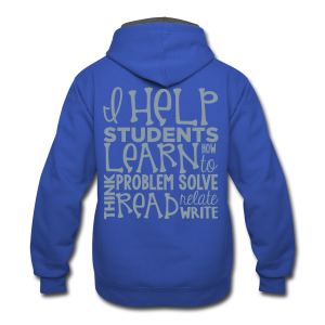 I Help Students to Learn - Contrast Hoodie