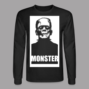 The Monster Halloween Horror Men's T Shirt - Men's Long Sleeve T-Shirt