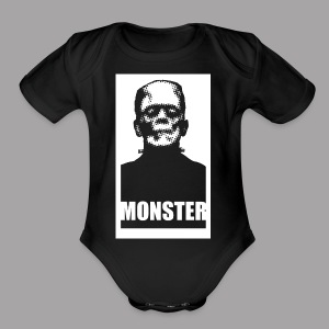 The Monster Halloween Horror Men's T Shirt - Short Sleeve Baby Bodysuit