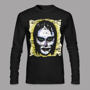 Vampire Girl Topstone Vintage Men's Spooky Halloween T Shirt - Men's Long Sleeve T-Shirt by Next Level