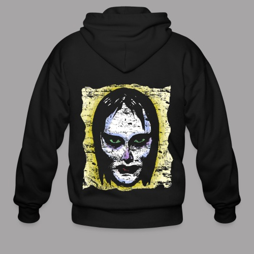 Vampire Girl Topstone Vintage Men's Spooky Halloween T Shirt - Men's Zip Hoodie