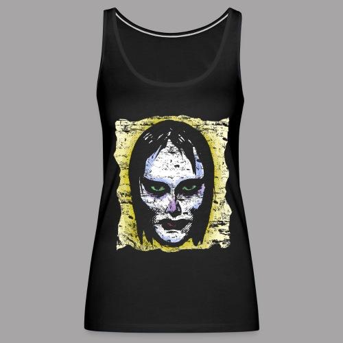 Vampire Girl Topstone Vintage Men's Spooky Halloween T Shirt - Women's Premium Tank Top